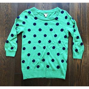 J. Crew Women's Green Crew Neck Sweater sz XS